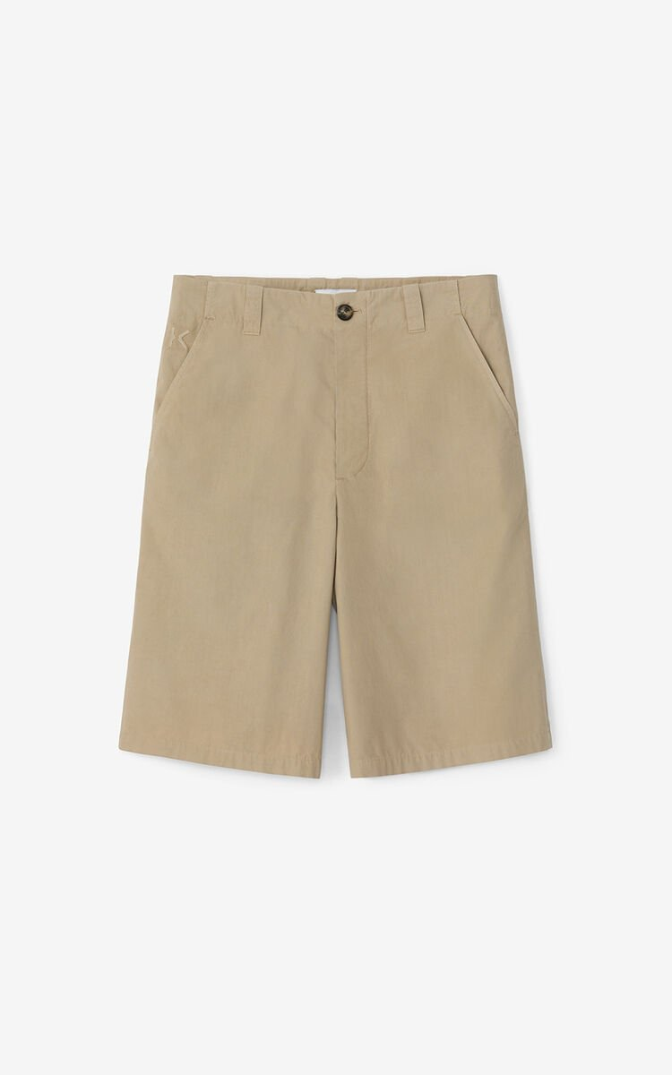 TAUPE 'High Summer Capsule' chino shorts for women KENZO