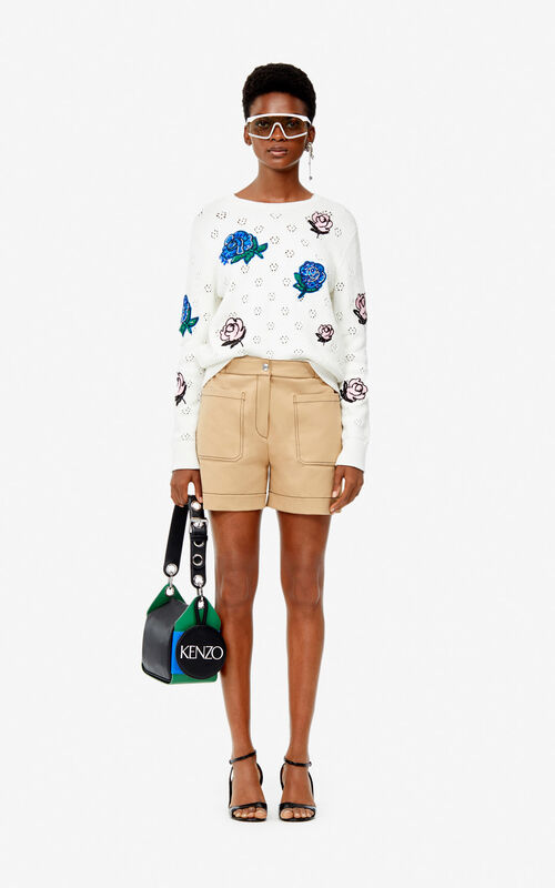 DARK BEIGE Shorts for women KENZO
