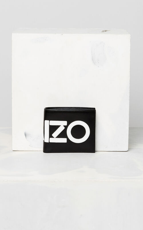BLACK KENZO colorblock wallet for men