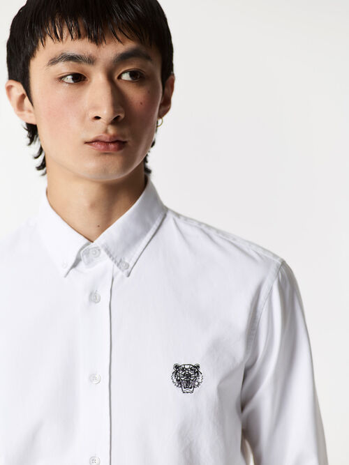 WHITE Tiger Crest Shirt for men KENZO