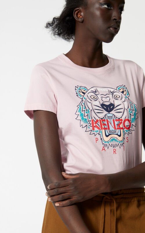 PASTEL PINK Tiger T-shirt for women KENZO