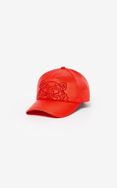 MEDIUM RED 'Kampus' Tiger cap for unisex KENZO