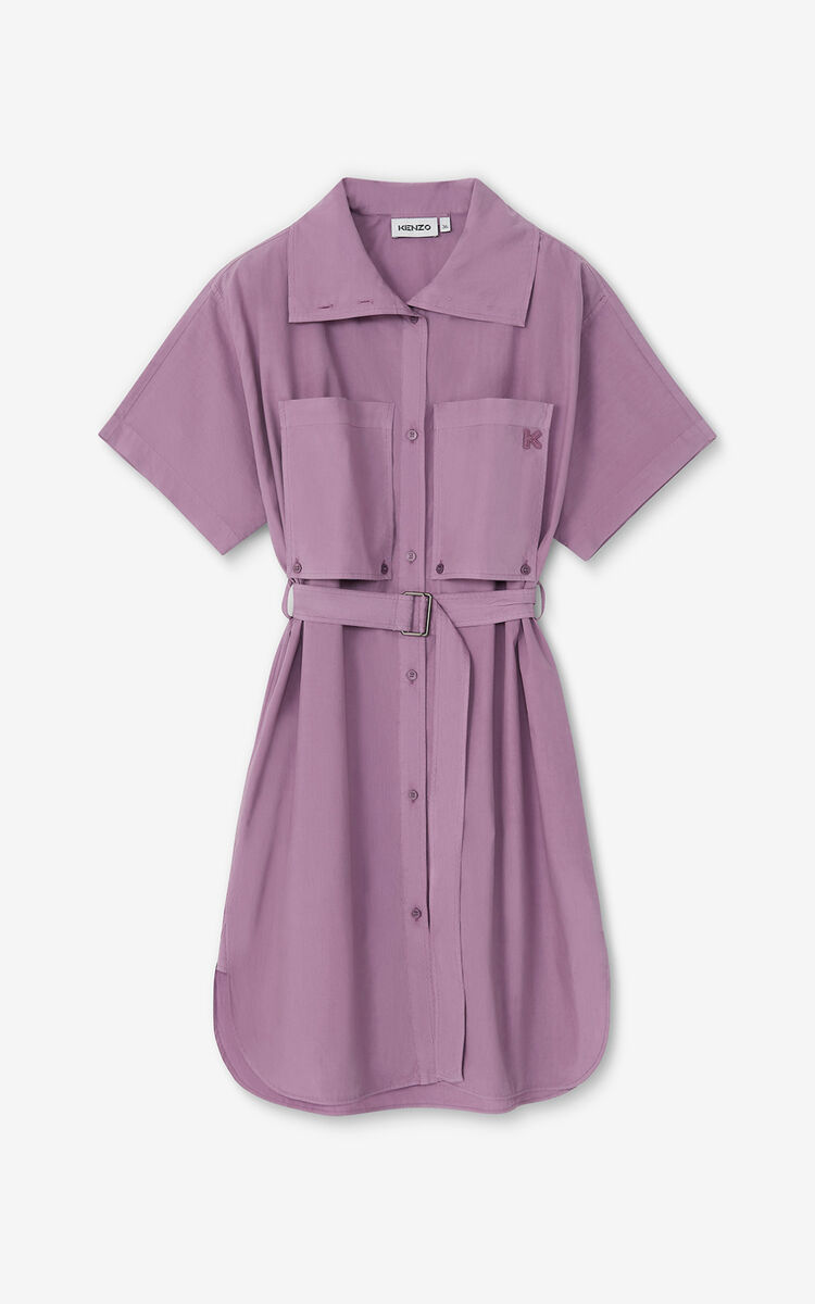 BLACKCURRANT 'High Summer Capsule' shirt dress for women KENZO