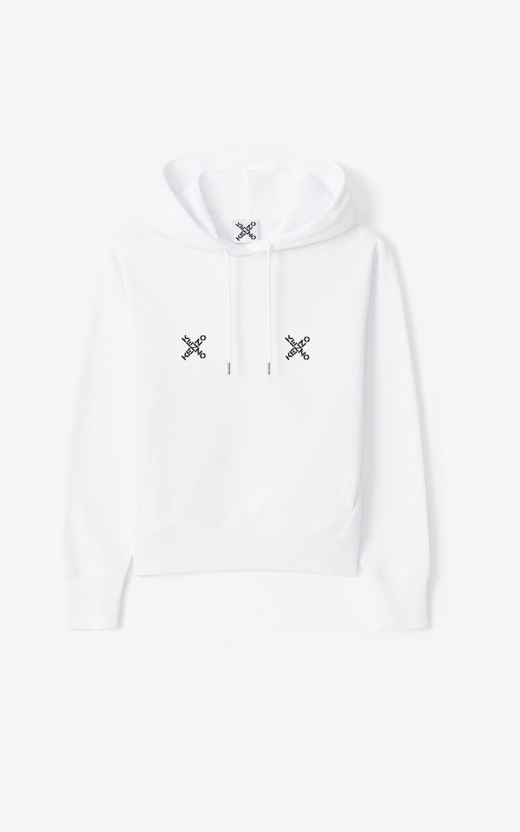 WHITE KENZO Sport 'Triple X' hoodie for women