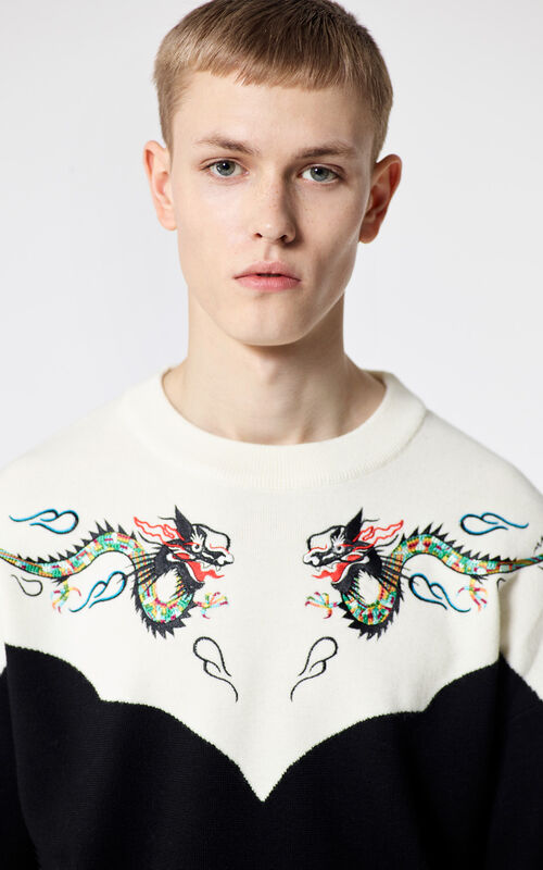 BLACK 'Dragon' jumper for men KENZO