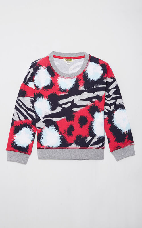 DEEP FUSCHIA 'Tiger Stripes' sweatshirt for men KENZO