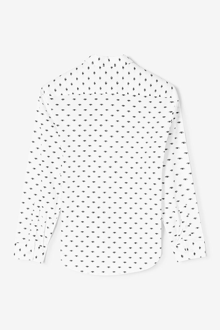 WHITE Multi Eyes Cotton Shirt for men KENZO