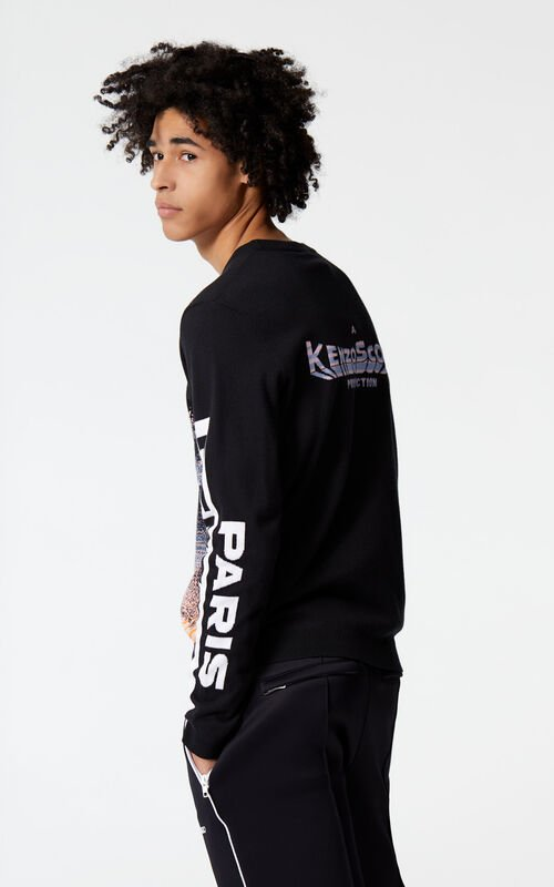 BLACK 'Kenzoscope' jumper for men