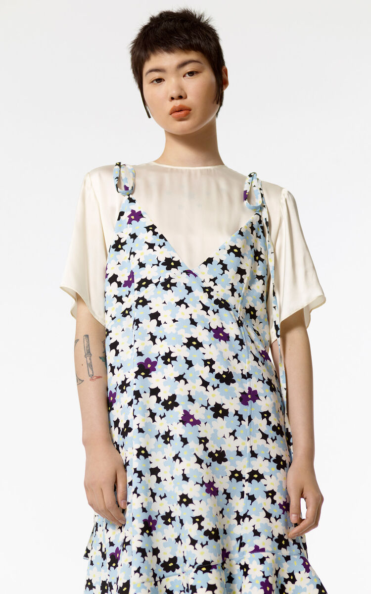 LIGHT BLUE 2 in 1 'Jackie Flowers' dress for women KENZO
