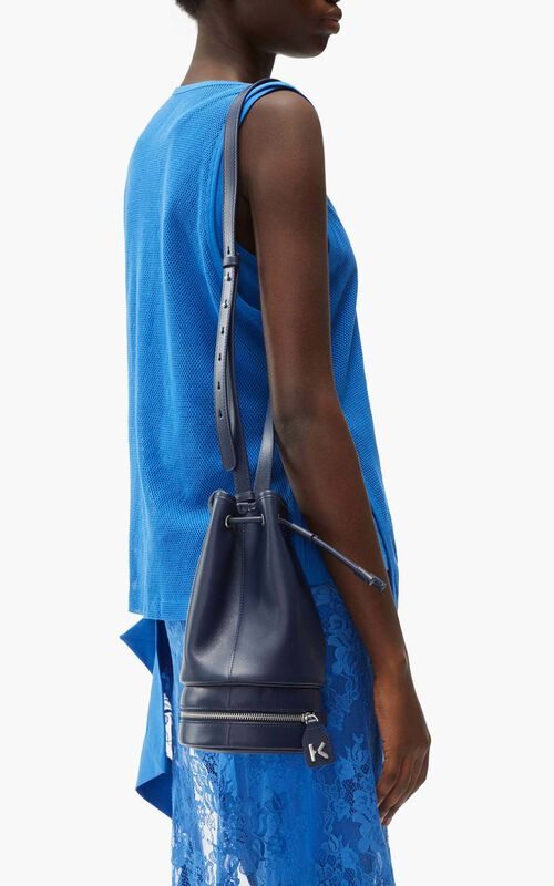 CYAN 'Poppy' tote bag and leather bucket bag for women KENZO