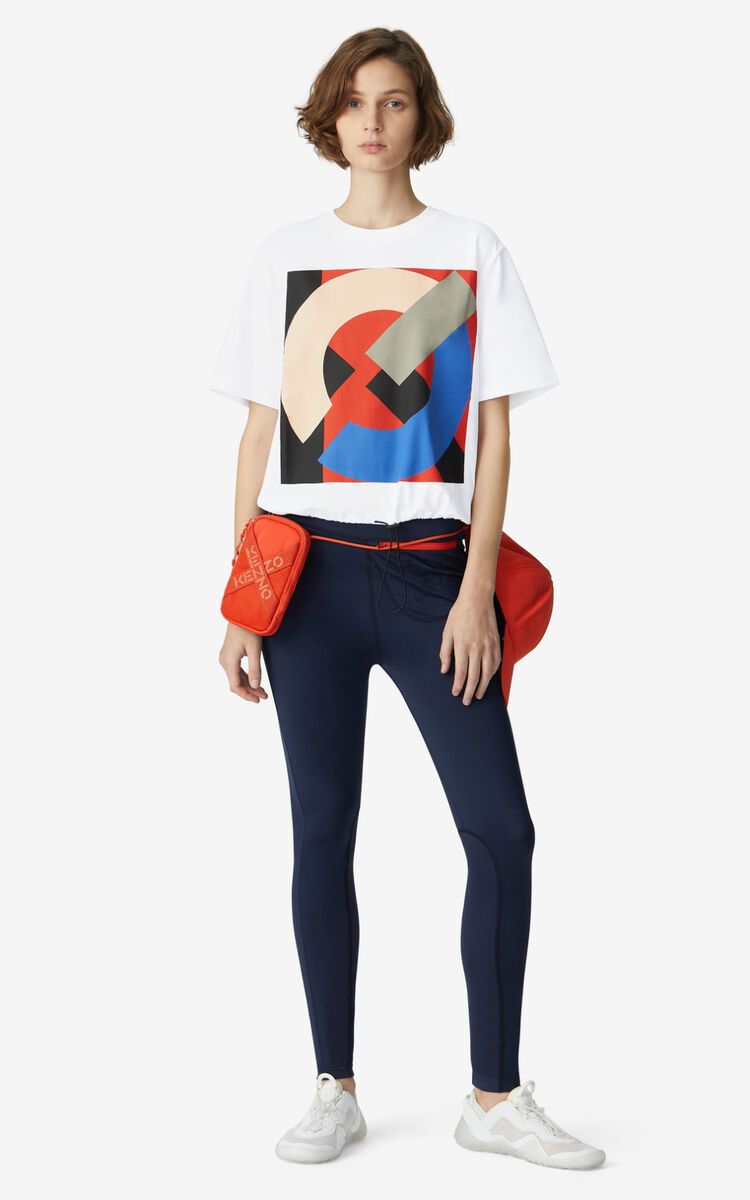 WHITE KENZO Sport boxy T-shirt for women