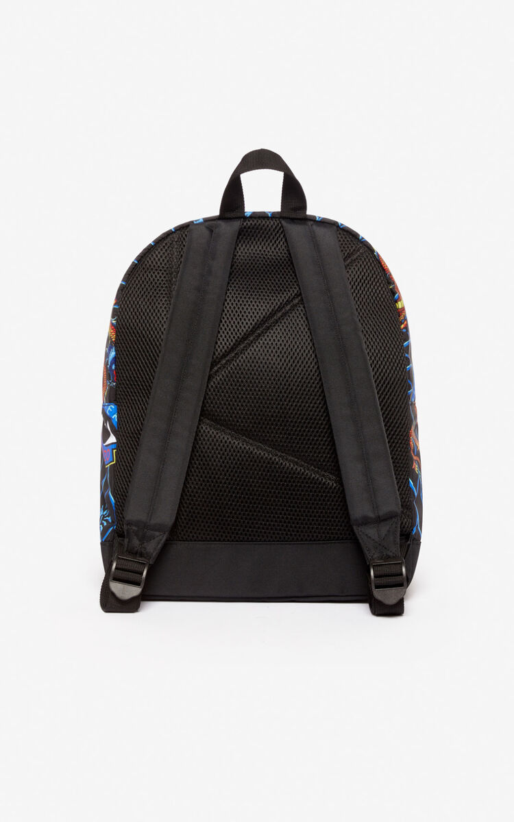 BLACK Multi-icon backpack for women KENZO
