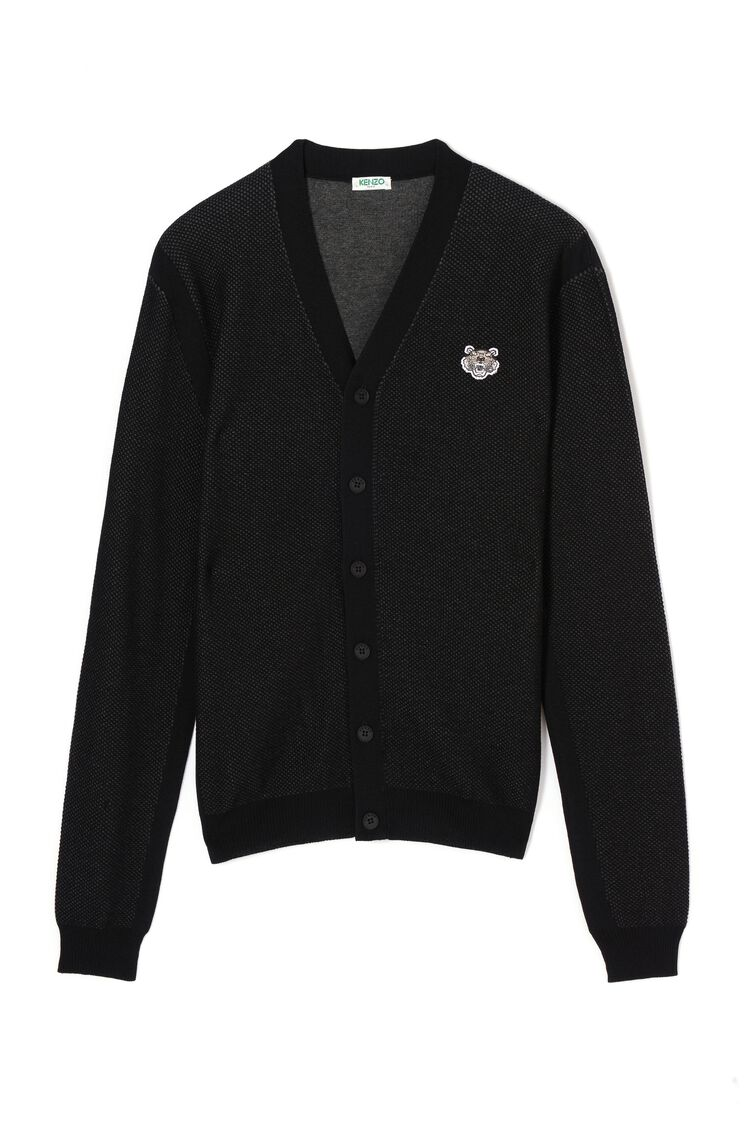 BLACK Tiger Cardigan for men KENZO