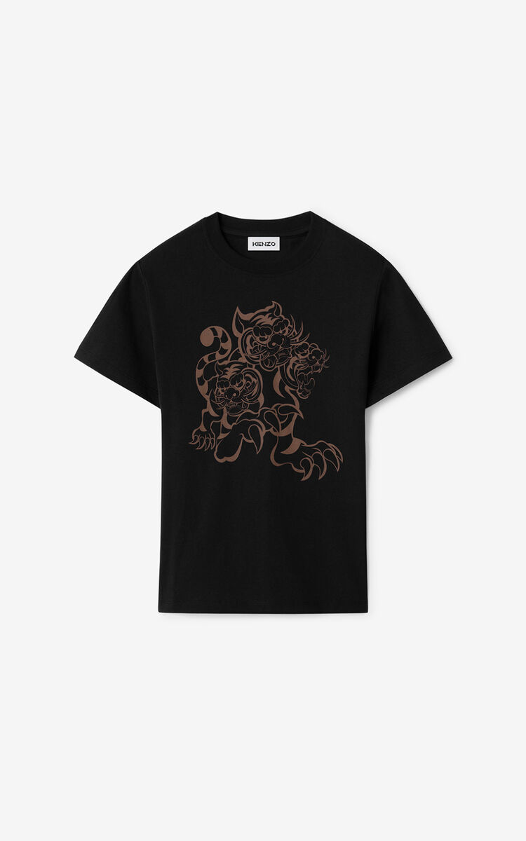 BLACK KENZO x KANSAIYAMAMOTO 'Three Tigers' t-shirt for women