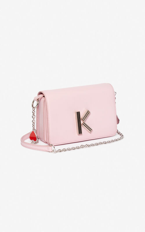 PASTEL PINK 'I ❤ KENZO Capsule' K-Bag Chainy bag for unisex