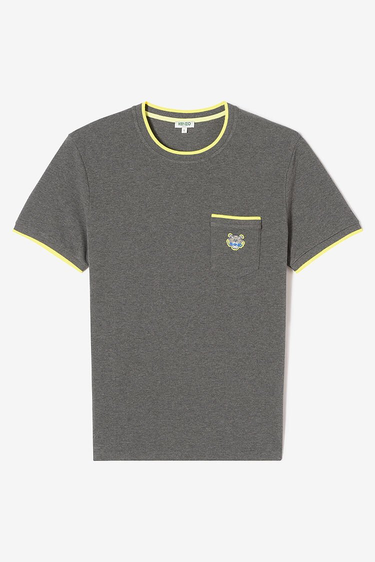 DARK GREY Tiger Pocket T-shirt for men KENZO
