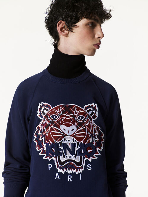 INK Tiger x Checkers Sweatshirt for women KENZO