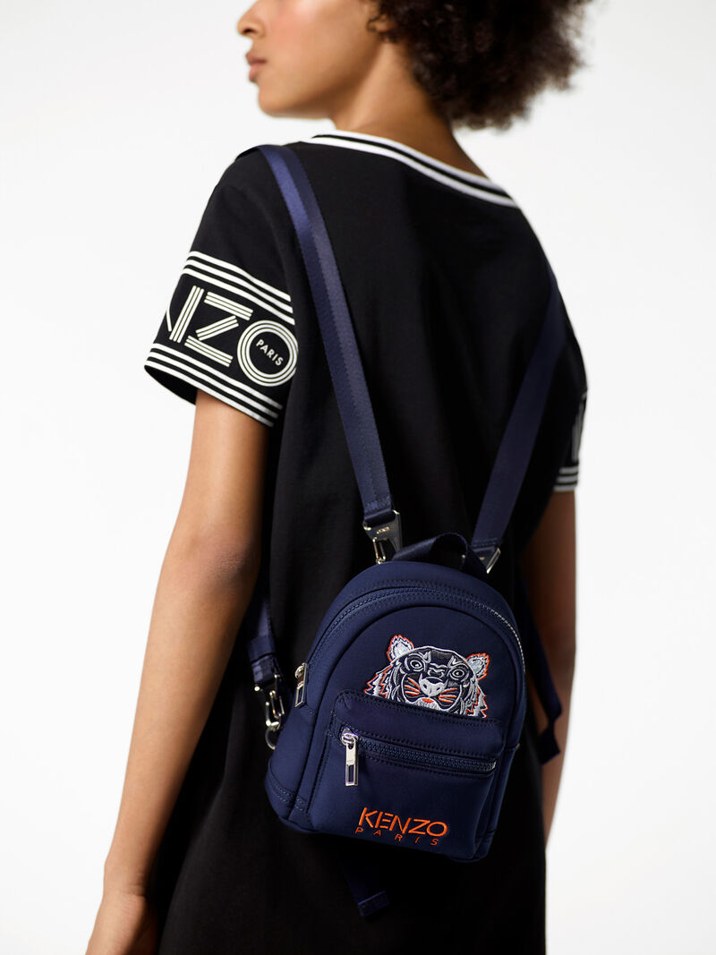 Mini  Neoprene Tiger Backpack, NAVY BLUE, KENZO
