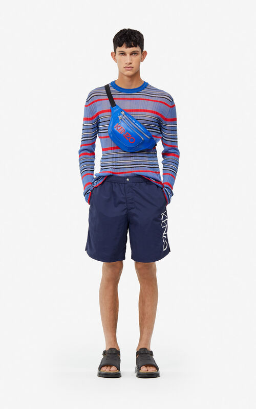 a25fa009 MIDNIGHT BLUE KENZO Logo swim trunks for men ...
