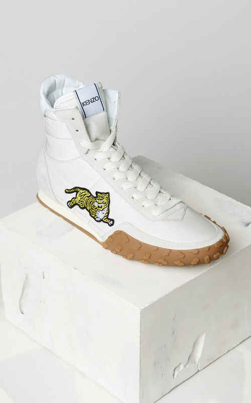 PALE GREY KENZO MOVE high-top sneakers for men