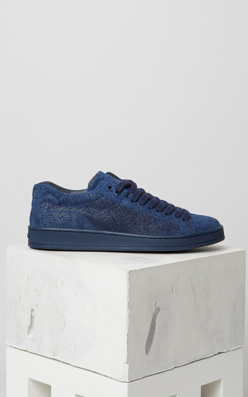 DEEP SEA BLUE Tennix Suede Sneaker for men KENZO