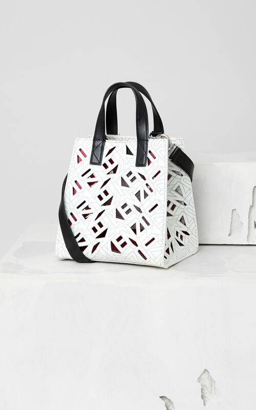 WHITE Flying KENZO Tote Bag for women
