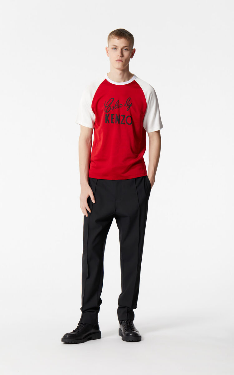 MEDIUM RED 'Color by KENZO' t-shirt for men