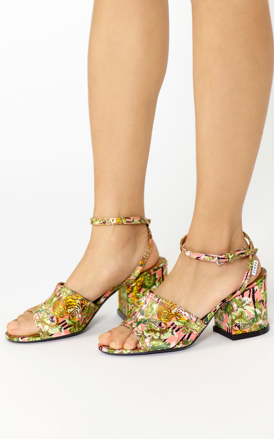 FLAMINGO PINK Daria 'Bamboo Tiger' sandals for women KENZO