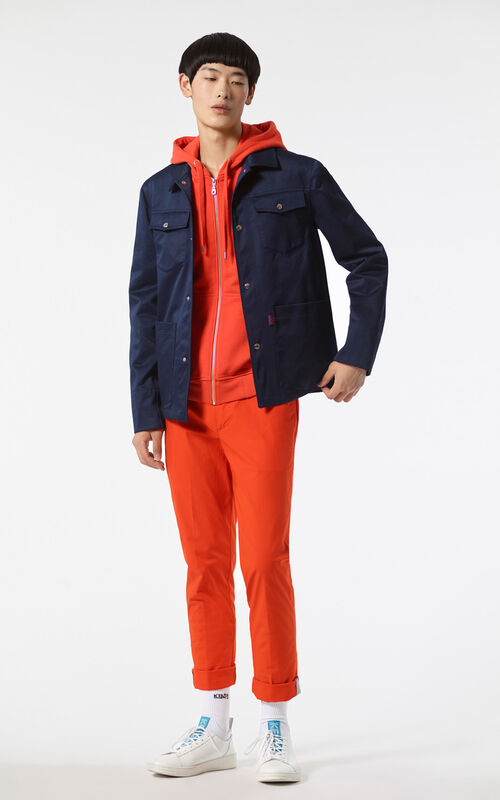 NAVY BLUE Safari jacket for men KENZO