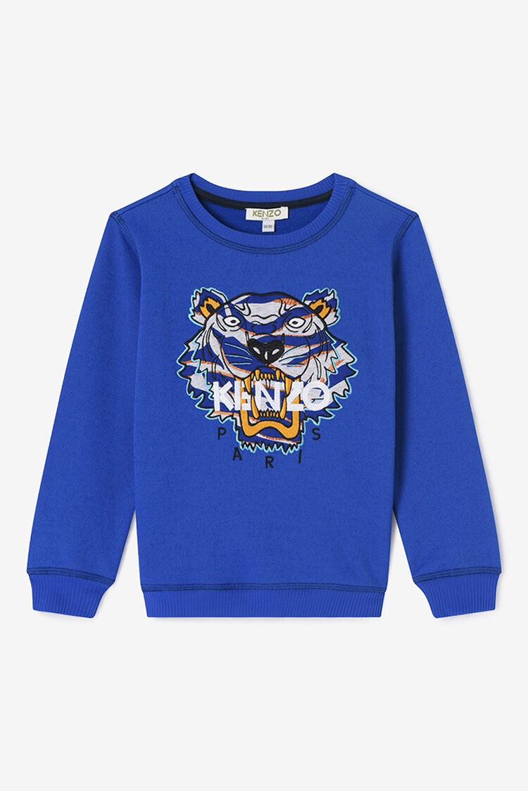ROYAL BLUE Symbols and Tiger Sweasthirt for women KENZO