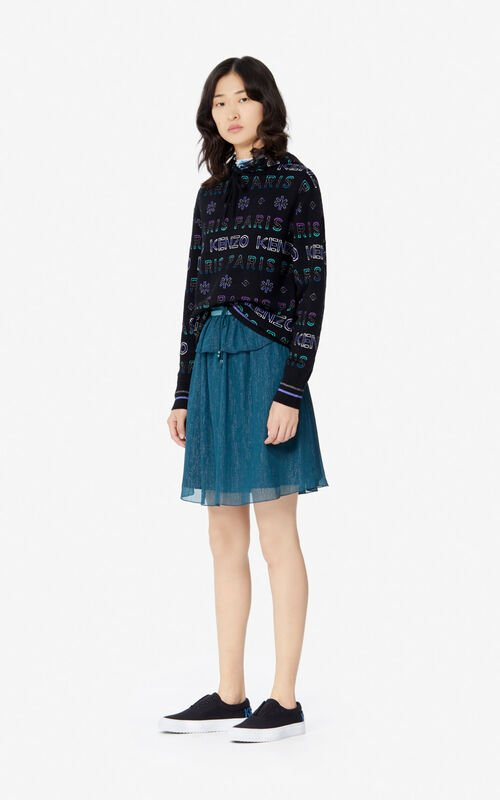 MULTICOLOR Hooded KENZO Paris jumper for women