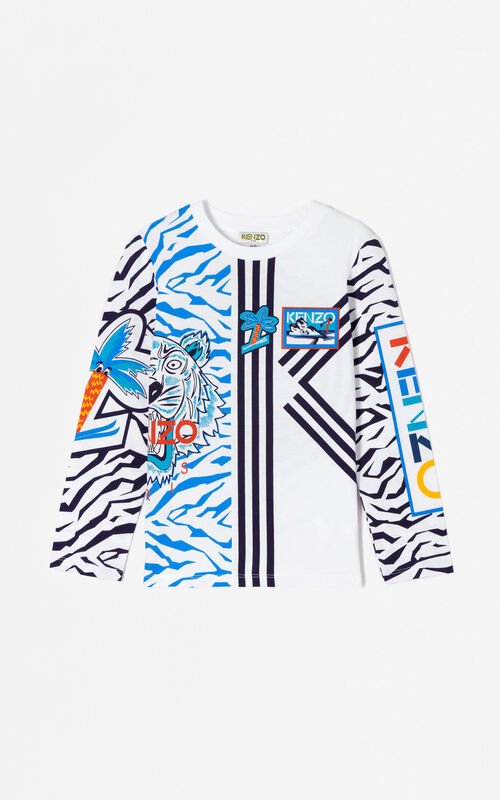 WHITE Multi-icons 'Frozen' t-shirt for men KENZO