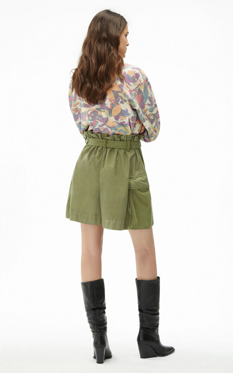 LIME TEA Belted shorts for women KENZO
