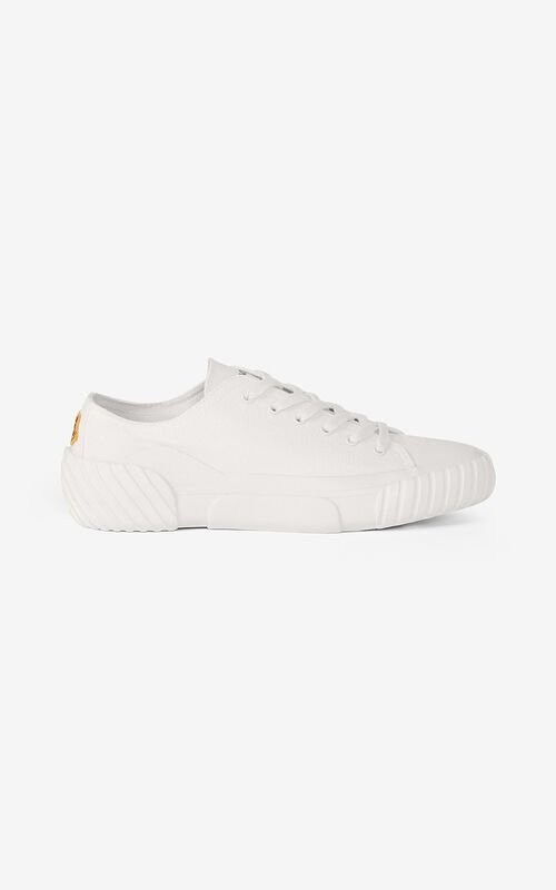 WHITE Canvas Tiger Crest trainers   for unisex KENZO