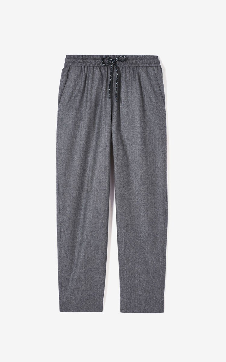 MIDDLE GREY Flannel trousers for women KENZO