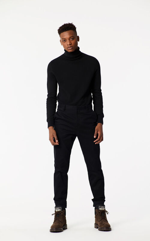 BLACK Cotton Pants for men KENZO