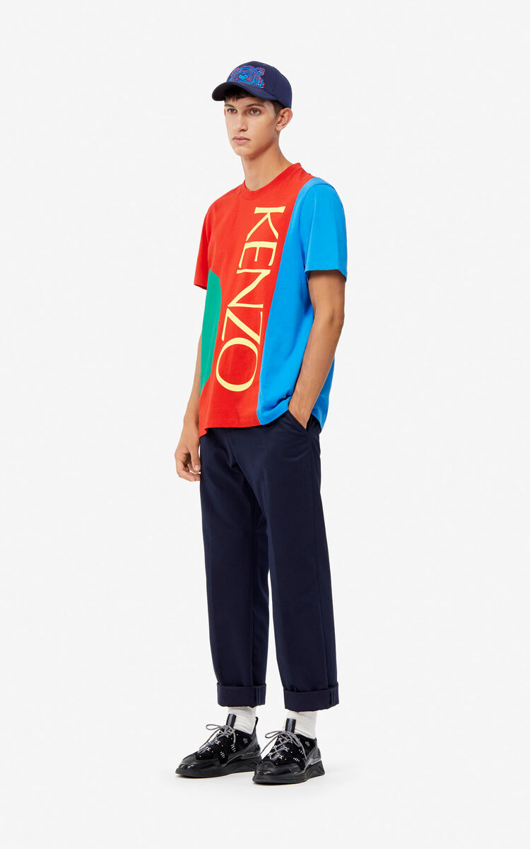 MEDIUM RED 'Square Logo' T-shirt for women KENZO