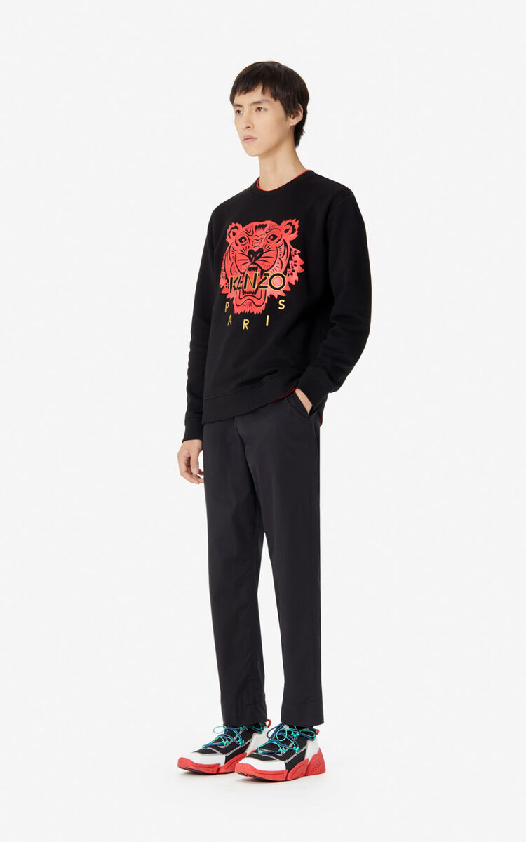 BLACK 'Chinese New Year Capsule' Tiger sweatshirt for men KENZO
