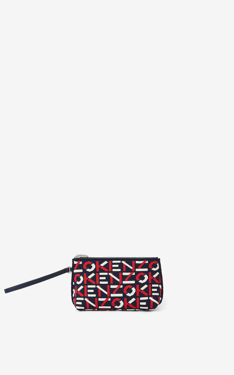 MEDIUM RED Skuba monogram clutch with gusset for unisex KENZO