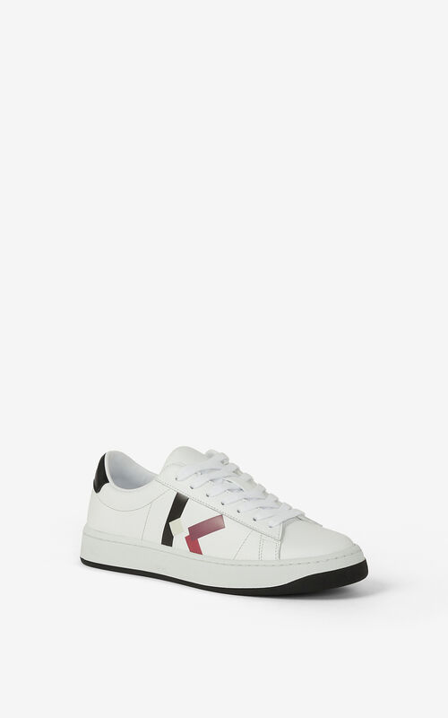CARMINE KENZO Kourt 'K Logo' leather trainers for unisex