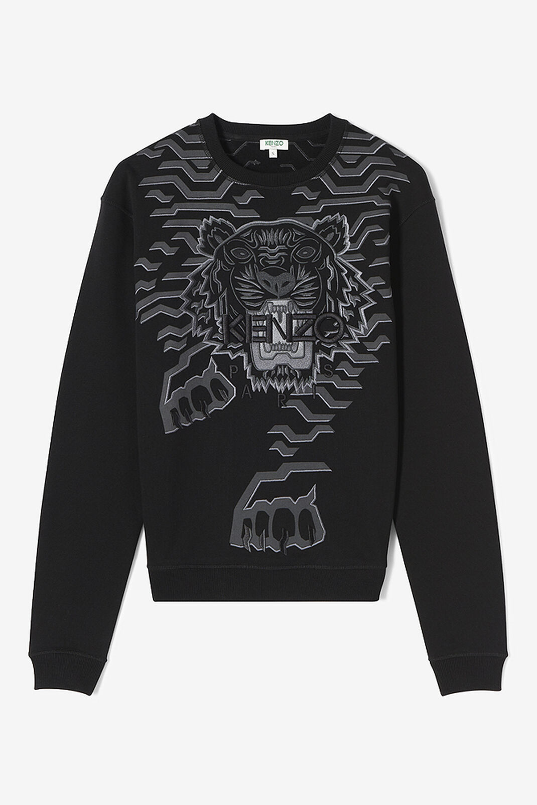 BLACK Geo Tiger sweatshirt for women KENZO