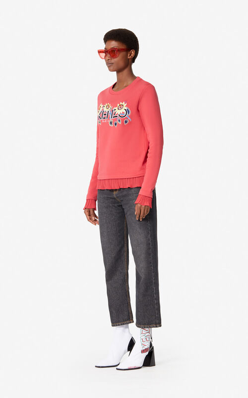 CORAL 'Passion Flower' KENZO Paris sweatshirt for women