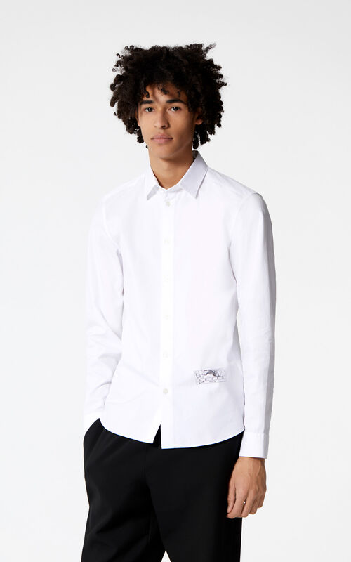 WHITE 'Jumping Tiger' shirt for men KENZO