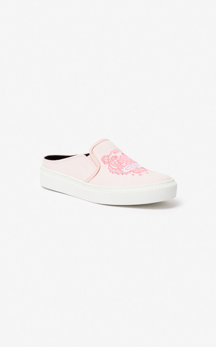 PASTEL PINK K-Skate Tiger slip-on mules for women KENZO