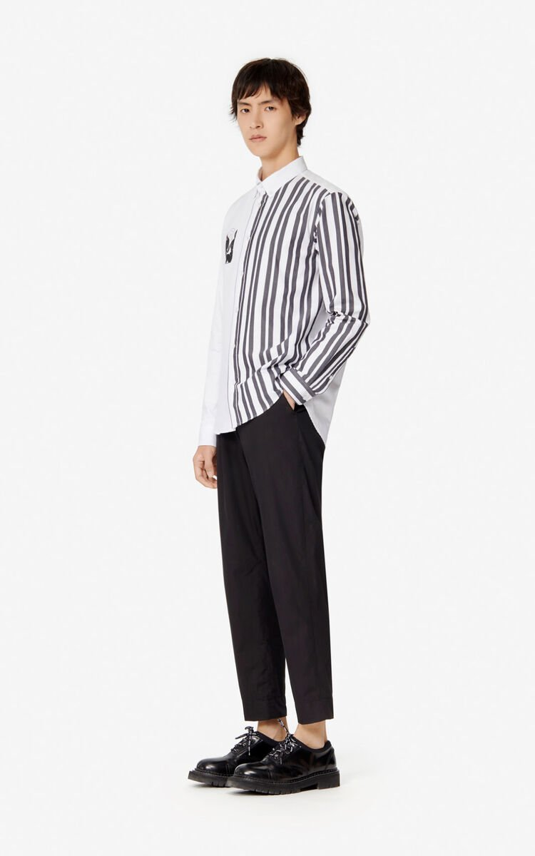 BLACK Tapered trousers for men KENZO