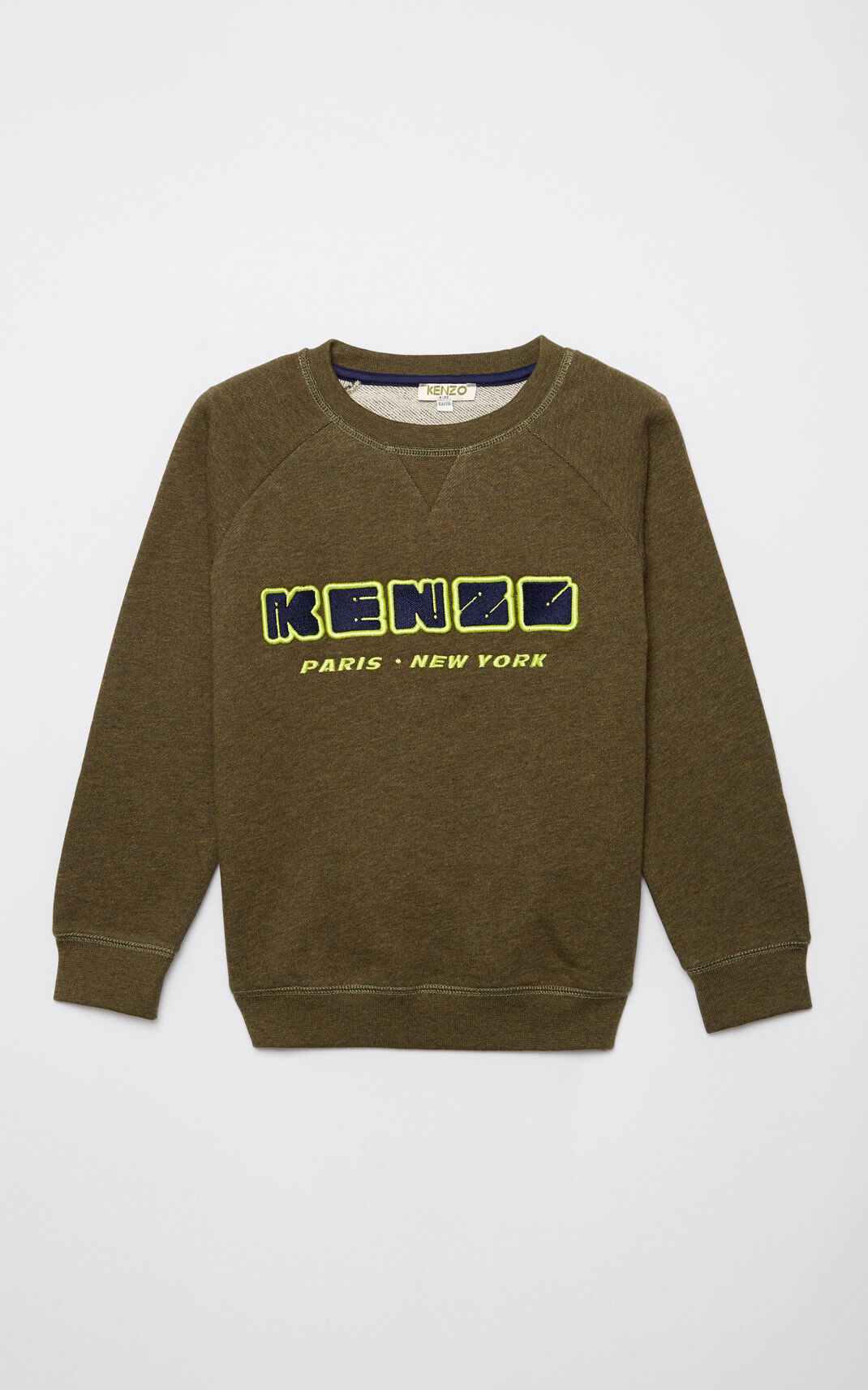 KHAKI KENZO Paris embroidered sweatshirt for women