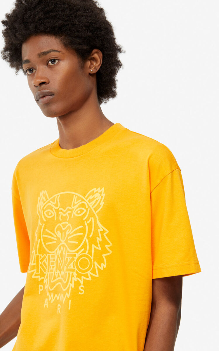 MEDIUM ORANGE Neon Tiger t-shirt for men KENZO
