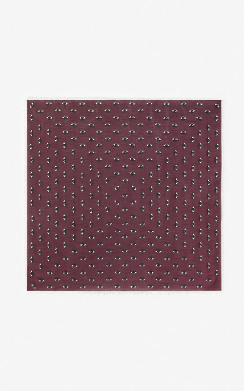 BORDEAUX Large multi eye scarf  for unisex KENZO