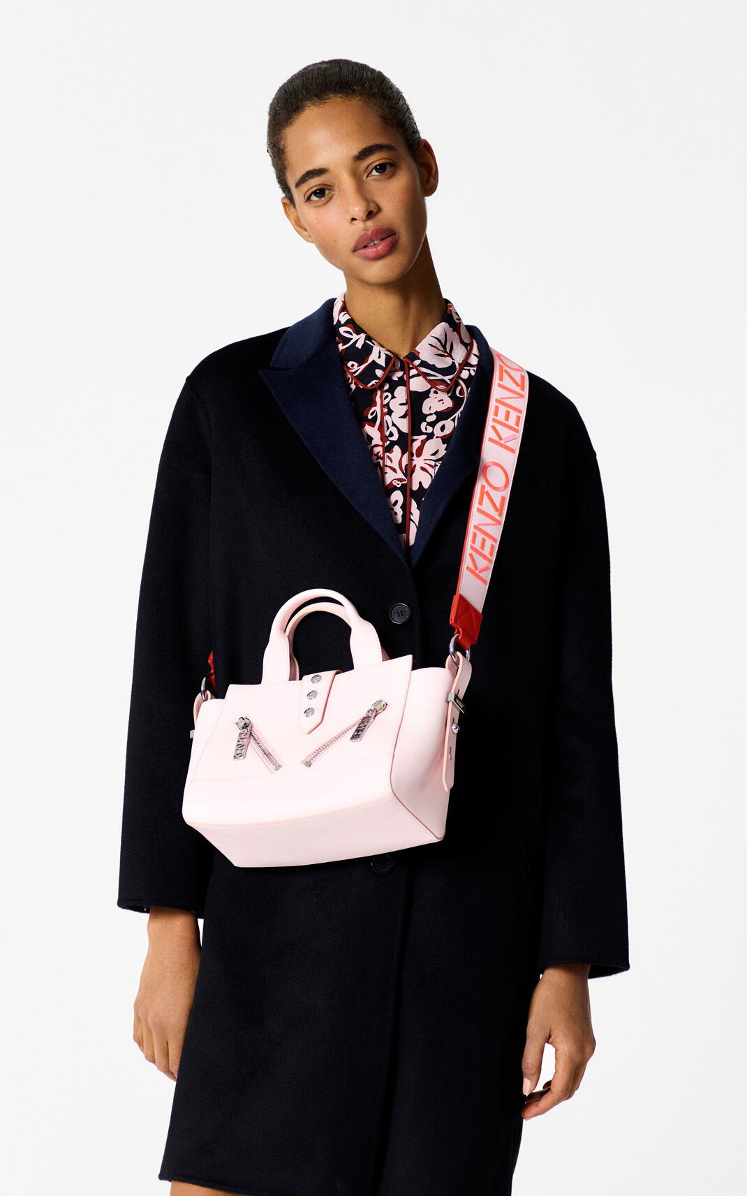 two-tone detail Coat with double-sided, two-tone detail for women KENZO