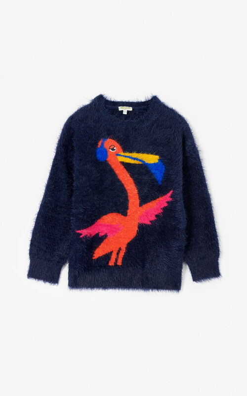 NAVY BLUE 'Frozen' jumper for women KENZO